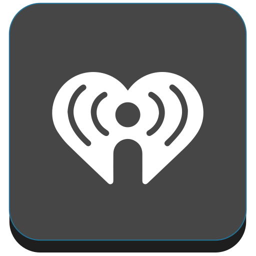 hearth, iheart, radio, social, social media icon