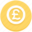 coin, money, pound icon