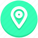 gps, location, map pin icon