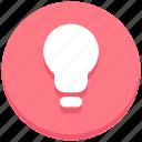 bulb, creativity, idea, light icon