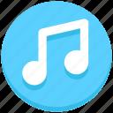 music, songs, social media icon