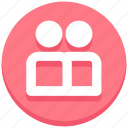 friends, social media, users icon