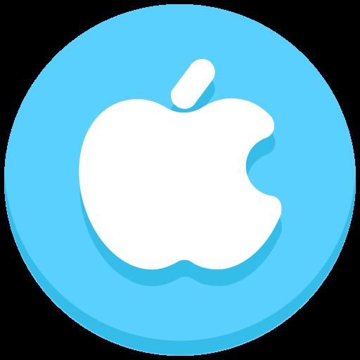 apple, iphone, logo, social, social media icon