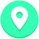 gps, location, map pin