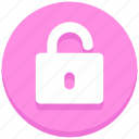 login, open, password, unlock icon