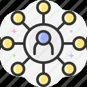 social media, social network, share, connector, multimedia icon