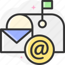 email, mail, message, envelope, multimedia icon