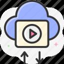 cloud storage, exchange, share, transfer data, cloud computing icon