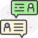 contact, call, phone, telephone, conversation icon