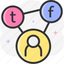 share, social network, connector, multimedia, ui icon