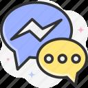 chat, messenger, message, conversation, chat bubble icon