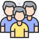 group, people, friends, friendship icon