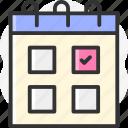 events, calendar, schedule, organization, date icon