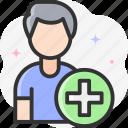 add friend, add, profile, friend request icon