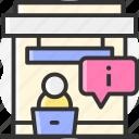 headphone, information, headset, help icon