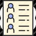 list, friend, page icon