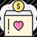 fundraiser, fund, donation, money, fundraise icon