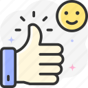 like, finger, thumb up, thumbs up, hands icon