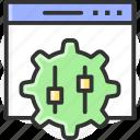 settings, display, preferences, shuffle icon