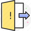 logout, exit, out, door, log out icon