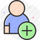 add friend, add subscribe, follow icon