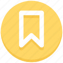 bookmark, favorite, ribbon icon