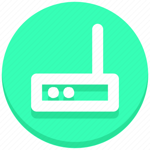 internet, modem, router icon