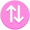 arrows, down, sharing, transaction, up icon