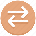 arrows, left, right, sharing, transaction icon