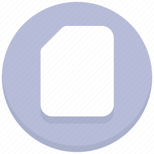 blank, page, paper icon