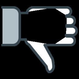 communication, facebook, hand, media, social, unlike icon