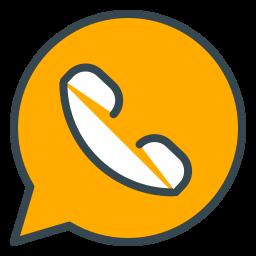 call, chat, communication, media, social, whatsapp icon