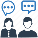 chat, conversation, discussion, interaction, people, talk, users icon