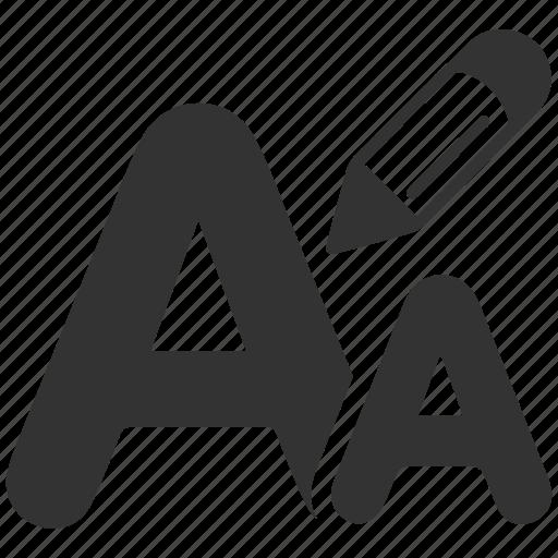 Letters, font, type, language icon