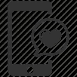 chat bubble, heart speech, love chat, online love, speech bubble icon