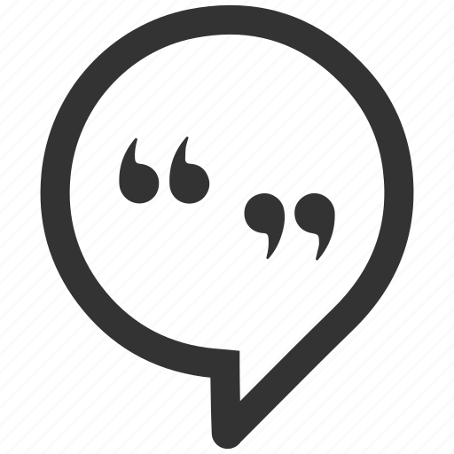 quotation mark, social media, speech bubble, status icon
