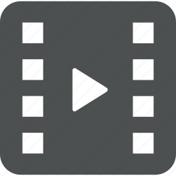 clip, film, movie, multimedia, play, player, video icon