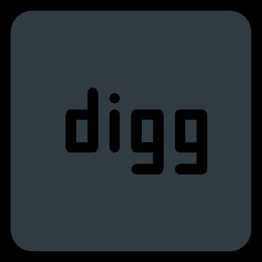 digg, logo, media, social icon