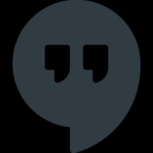 Hangout, logo, media, social icon - Free download
