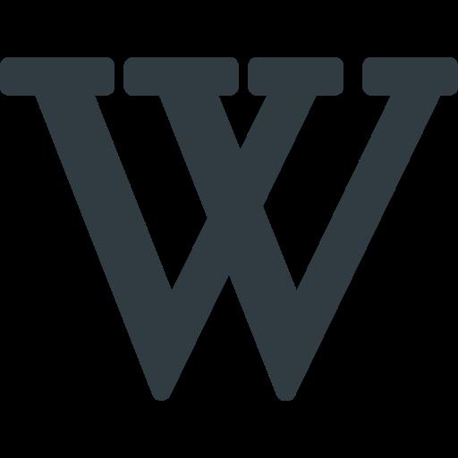 logo, media, social, wikipedia icon