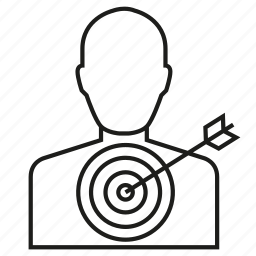 arrow, dart, game, people icon