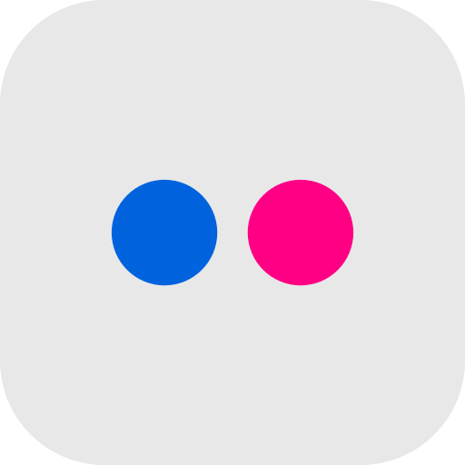 android, app, flickr, global, ios, media, social icon
