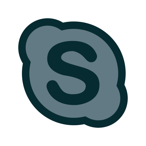 chat, communication, microsoft, skype icon