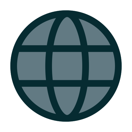 global, globe, internet, website icon