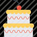 birthday, cake, celebration, event, food, gift, pie icon