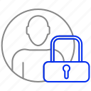 avatar, lock, man, safe, secure, security icon