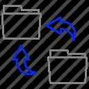 allocate, archive, folder, rotate, storage icon
