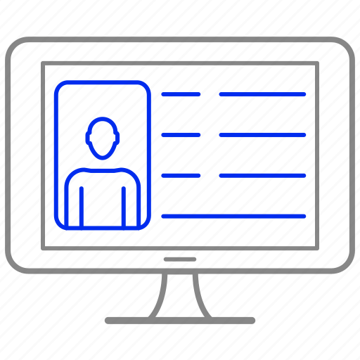 blog, computer, connection, internet, profile, web icon