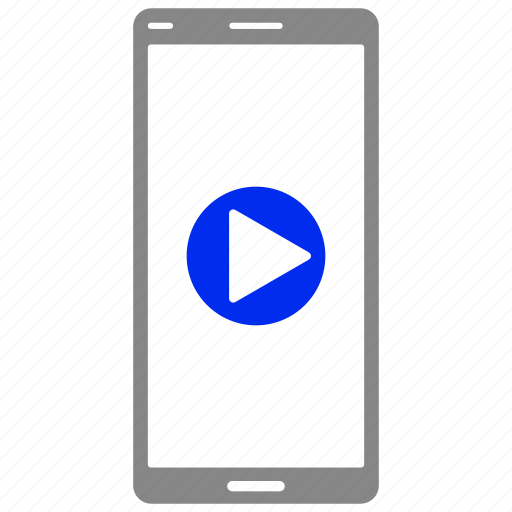 device, media, mobile, phone, play, video icon
