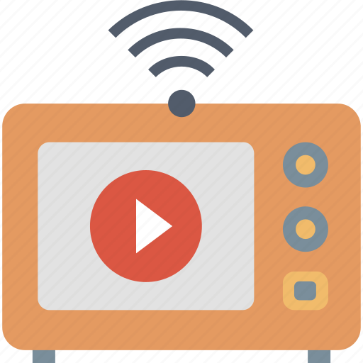 Live, streaming, media, play, signal, tv, video icon - Download on Iconfinder
